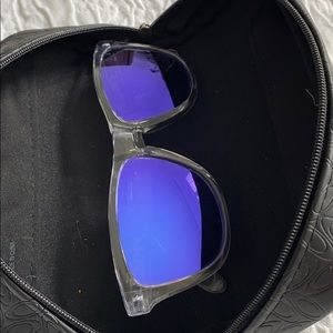 Oakley Sunglasses Purple lens Clear frame